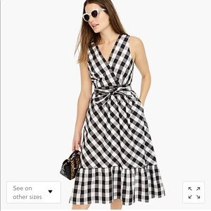 J crew gingham faux wrap dress - size 4